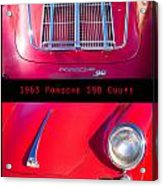 1963 Red Porsche S90 Coupe Poster Acrylic Print