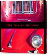 1963 Red Porsche S90 Coupe Poster S Acrylic Print