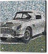 1964 Aston Martin Mosaic Acrylic Print
