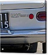 1964 Fiat 2300s Abarth Taillight Acrylic Print