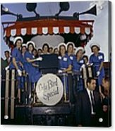 1964 Lbj Presidential Campaign. Lady Acrylic Print