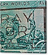 1964 New York World's Fair Stamp Acrylic Print