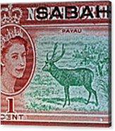 1964 North Borneo Sabah Stamp Acrylic Print