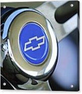 1966 Chevrolet Nova Steering Wheel Emblem Acrylic Print