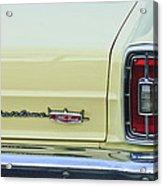 1966 Ford Fairlane Xl Taillight Emblem Acrylic Print