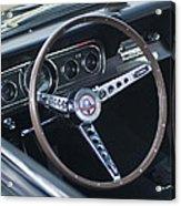 1966 Ford Mustang Cobra Steering Wheel  Acrylic Print