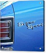 1967 Chevrolet Chevelle Super Sport Taillight Emblem Acrylic Print