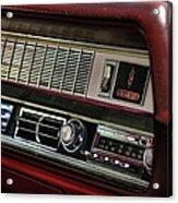 1967 Oldsmobile Cutlass 4-4-2 Dashboard Acrylic Print