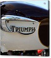 1967 Triumph Bonneville Gas Tank 1 Acrylic Print