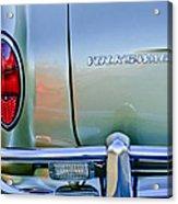 1967 Volkswagen Vw Karmann Ghia Taillight Emblem Acrylic Print