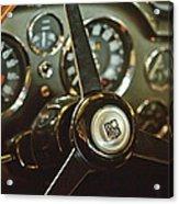 1968 Aston Martin Db6 Steering Wheel Emblem Acrylic Print