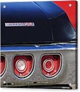 1968 Chevrolet Impala Ss Taillight Emblem Acrylic Print