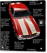 1968 Chevrolet Z/28 Camaro  Acrylic Print