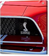 1968 Ford Mustang 427 Ci Fastback Grille Emblem Acrylic Print