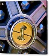 1968 Ford Shelby Gt500 Kr Convertible Wheel Emblem Acrylic Print