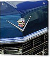 1969 Cadillac Hood Emblem Acrylic Print