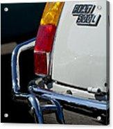 1969 Fiat 500 Taillight Emblem Acrylic Print