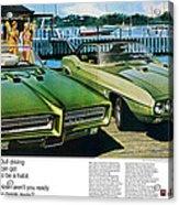 1969 Pontiac Gto And Firebird Acrylic Print