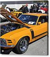 1970 Boss Mustang Acrylic Print
