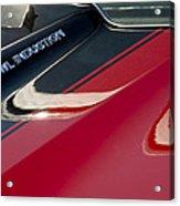 1970 Chevrolet El Camino Ss 454 Ci Hood Emblem Acrylic Print