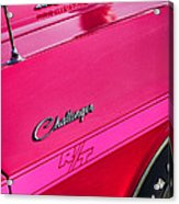 1970 Dodge Challenger Rt 440 Six Pack - Tickled Pink Acrylic Print