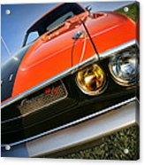 1970 Dodge Challenger Rt Hemi Orange Acrylic Print