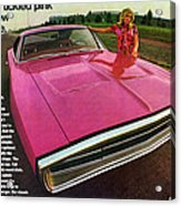 1970 Dodge Charger Tickled Pink Acrylic Print