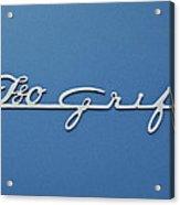 1970 Iso Rivolta Grifo Emblem 3 Acrylic Print