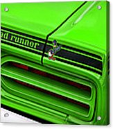 1970 Plymouth Road Runner - Sublime Green Acrylic Print