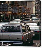 1970s America. 42nd Street Between 7th Acrylic Print
