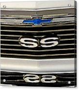 1971 Chevrolet Nova Ss350 Grille Emblem Acrylic Print