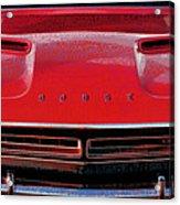 1971 Dodge Challenger - Red Mopar Typography Acrylic Print
