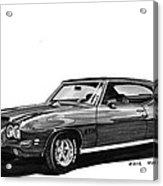 1971 Pontiac G T O Acrylic Print