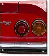 1972 Ferrari Dino 246gt Taillight Emblem Acrylic Print