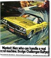 1973 Dodge Challenger Rallye Acrylic Print