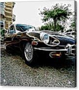 1973 Jaguar Type E Fantasy  Acrylic Print
