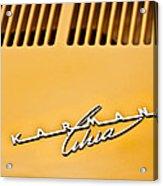 1973 Volkswagen Karmann Ghia Convertible Emblem Acrylic Print