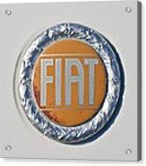 1977 Fiat 124 Spider Emblem Acrylic Print