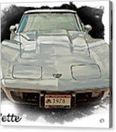 1978 Corvette Acrylic Print