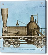 19th Century Locomotive Acrylic Print