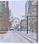 1st Real Snow Golddome 2012 Acrylic Print