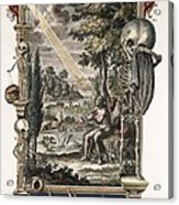 1731 Johann Scheuchzer Creation Of Man Acrylic Print