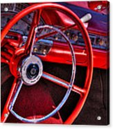 1958 Ford Fairlane Skyliner Convertible Acrylic Print by David Patterson