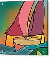 A Boat Acrylic Print