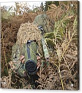 A British Army Sniper Team Dressed Acrylic Print