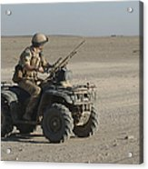 A British Army Soldier Provides Acrylic Print