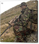 A British Soldier Armed With A Sniper Acrylic Print