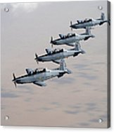 A Formation Of Iraqi Air Force T-6 Acrylic Print