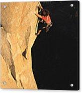 A Man Rock Climbing On El Capitan Acrylic Print
