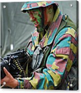 A Paratrooper Of The Belgian Army Acrylic Print